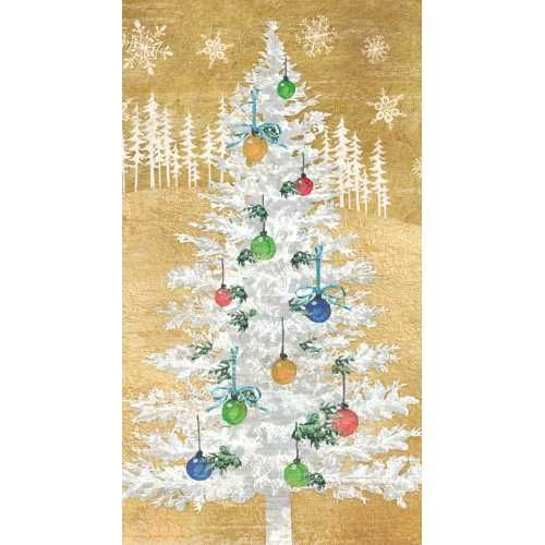 Gold Christmas Tree Holiday Guest Towel Guest Towels Gold Christmas Tree Gold Christmas