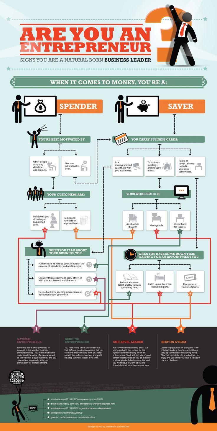 Are You An Entrepreneur Infographic Entrepreneur
