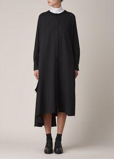 Yohji Yamamoto +NOIR Black Flared Dress