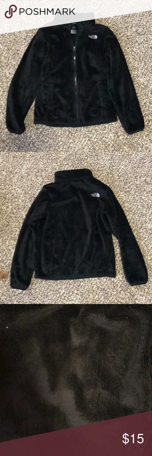 North Face Fuzzy Jacket Size Youth L Fuzzy Jacket Clothes Design Fashion [ 1740 x 580 Pixel ]