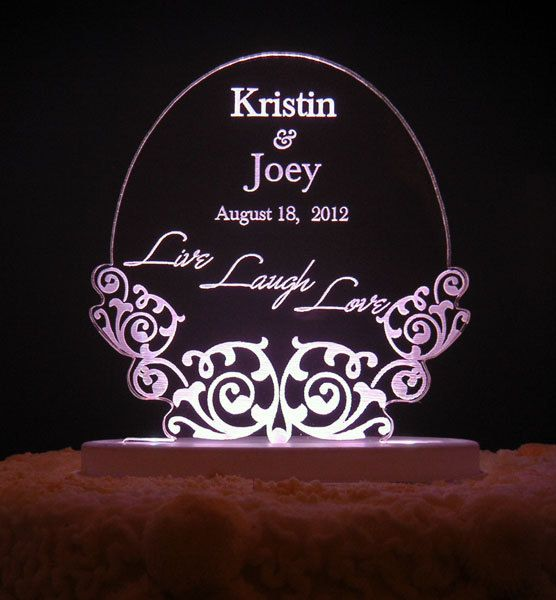 Live Laugh Love Wedding Cake Topper Engraved By Artzengraving 29 00