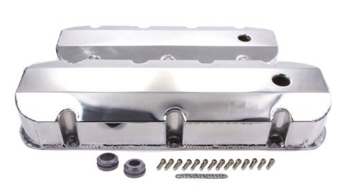 Racing Power Fabricated Aluminum Tall Valve Covers Bbc P N R6248pol Valve Cover Big Block Chevy