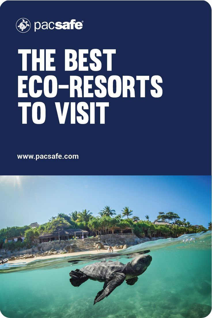 If you want to travel sustainably and explore more eco travel options, choosing an eco-friendly resort is a good place to start. From Europe to Asia, there are certain resorts that are focused on sustainability and reducing single use plastics. #ecotravel #travelinspiration