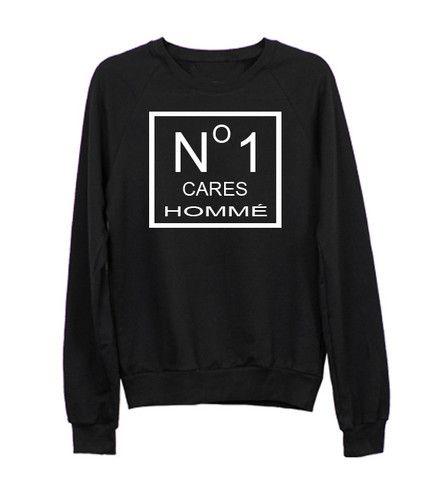 No 1 cares Hommé Black Sweatshirt - Luxury Brand LA Christmas Sales