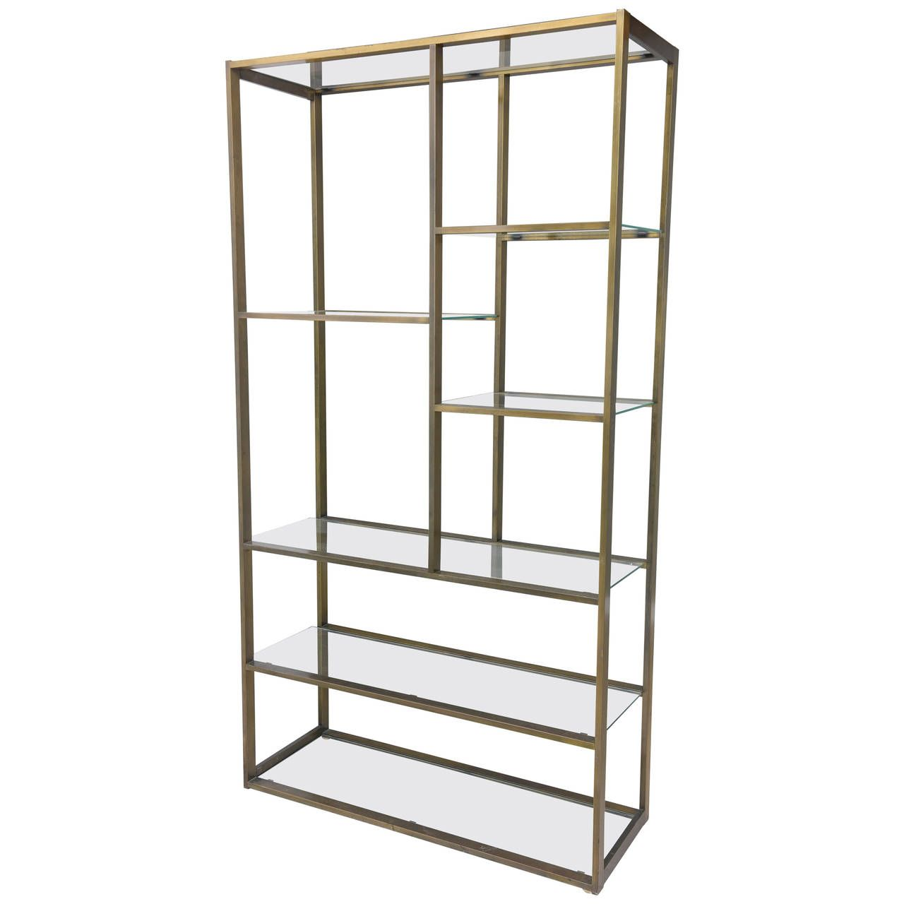 Etagere Otto Bronze Milo Baughman Etagere With Glass Shelves Tiffany Hills