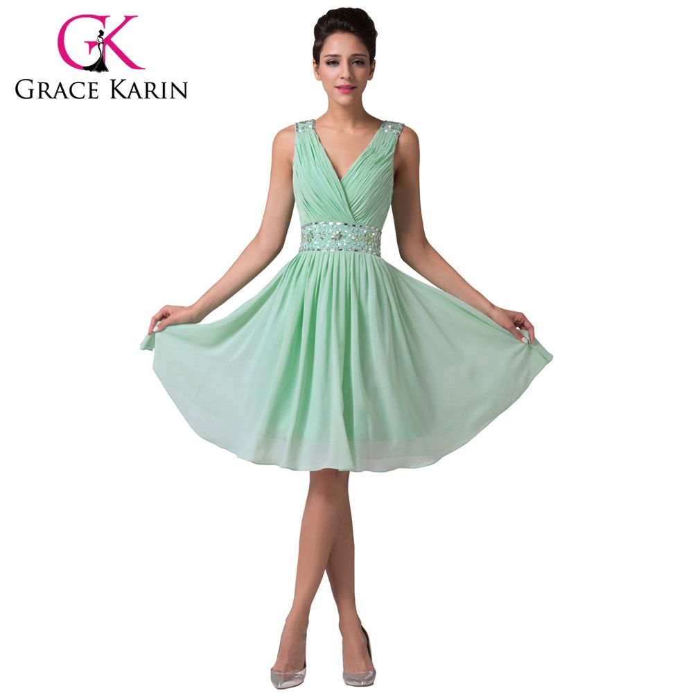 Grace karin charming mint green bridesmaid dresses knee length grace karin charming mint green bridesmaid dresses knee length chiffon satin beading sequin party gowns short ombrellifo Images