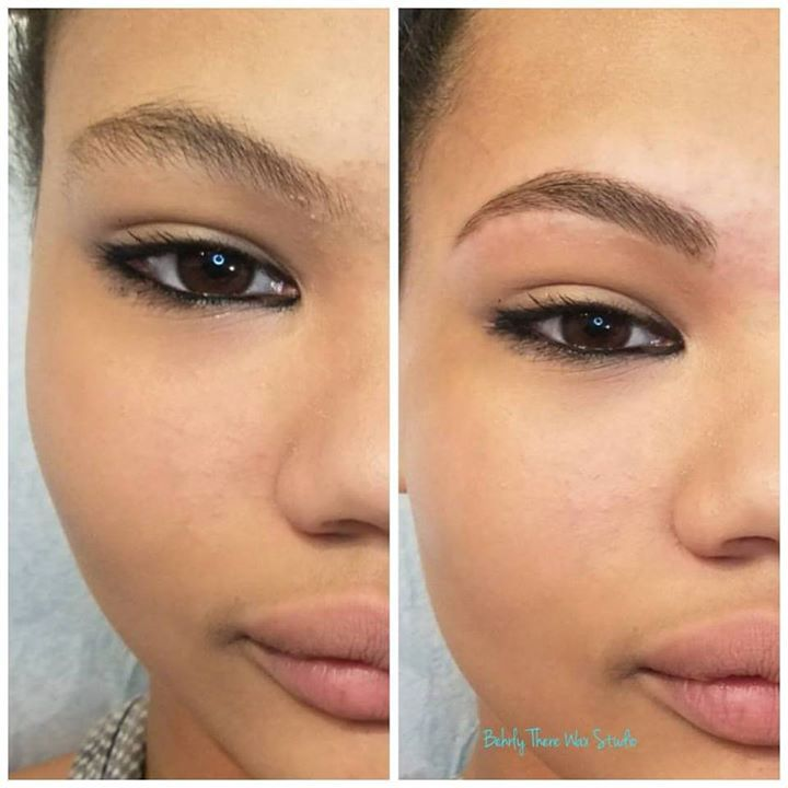 I love brows! Before and after brow wax with brow powder ...