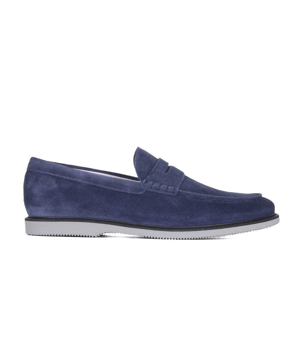 meilleur service 9341f fe23c HOGAN Hogan Men'S Blue Suede Loafers'. #hogan #shoes ...