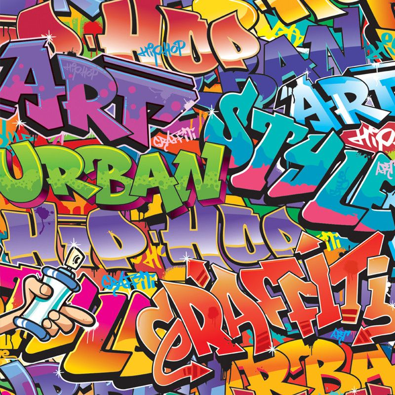 Walltastic Graffiti Wallpaper Mural - 42827 | boys bedroom ideas ...
