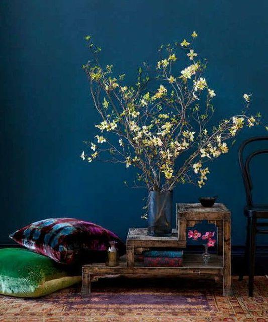 wandfarbe blau-putz streichen | wandfarbe | pinterest | putz ... - Wohnzimmer Blau Streichen