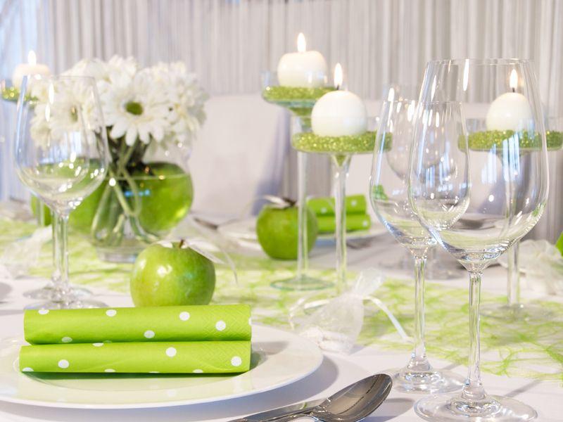 äpfel Als Namensschildchen Tischdekoration Grüner Apfel