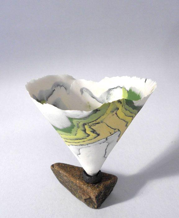 Ocean Flower Rock 1 by Nanna Bayer - Ceramics - Tasmanian artist