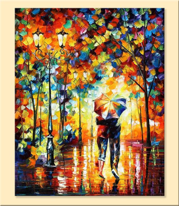 Under One Umbrella — Limited Edition Romantic Lovers Wall Art Print ...