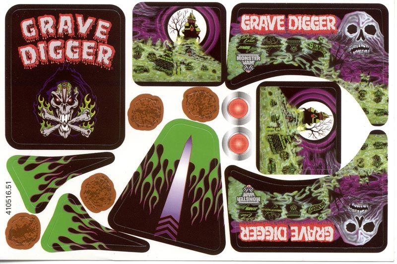 Grave Digger Decals Monster Trucks Digger Valentines Monster Truck Cake
