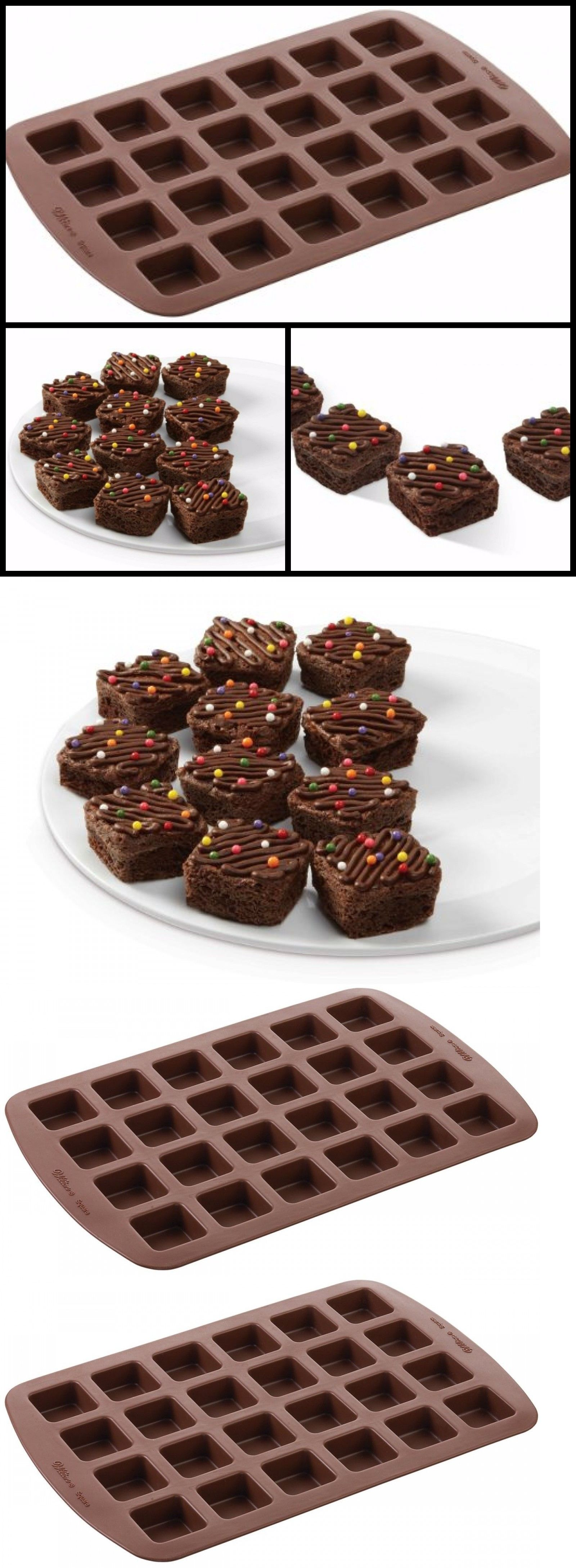 Bakeware 25464 Mini Cookie Tray Silicone Brownie Pan Squares
