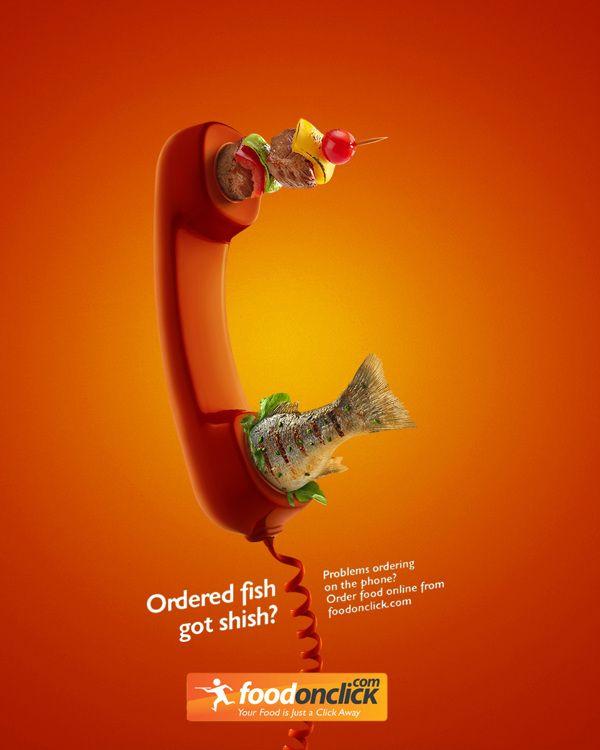 Food On Click Ad By Murat Suyur Via Behance 3d Design
