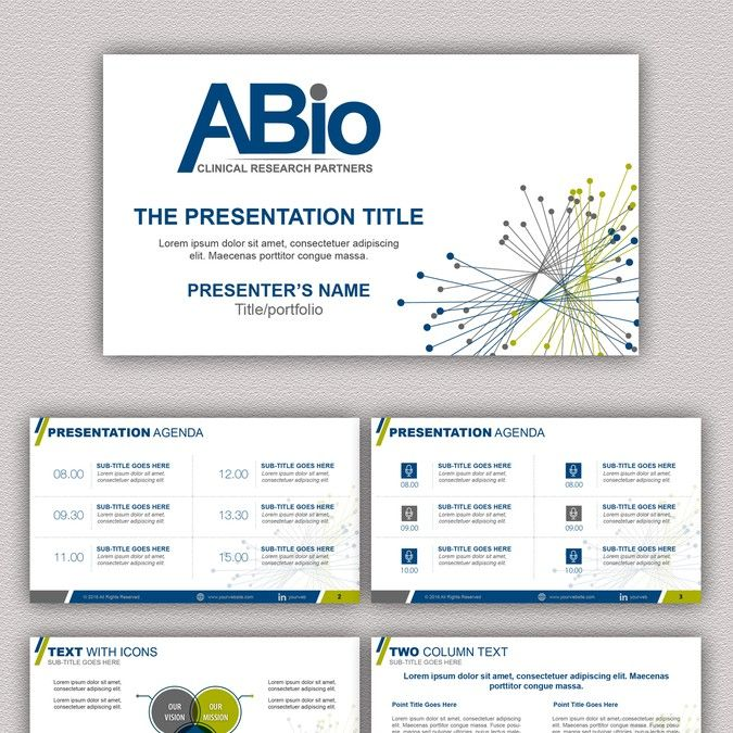 Create a PPT template for a new Contract Research Organization by - advertising contract template