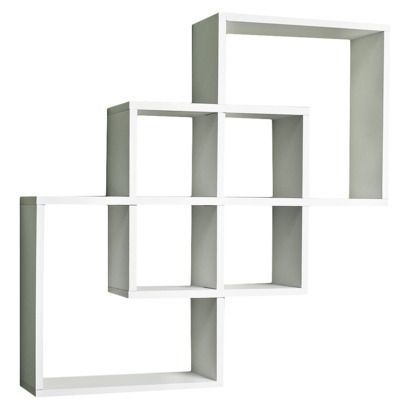 Intersecting Square Shelf Wall Shelves Shelves White Wall Shelves