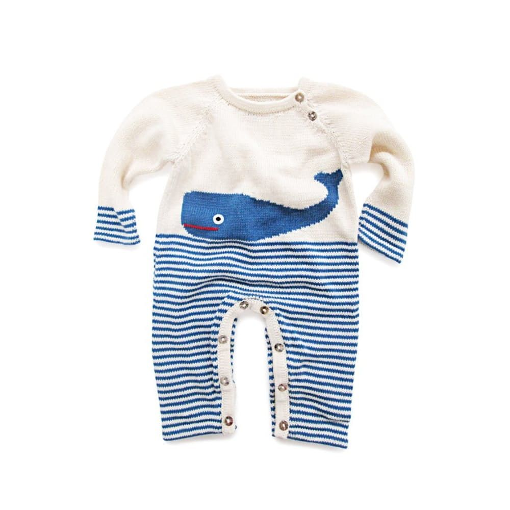 Estella Organic Whale Baby Romper Organic baby clothes