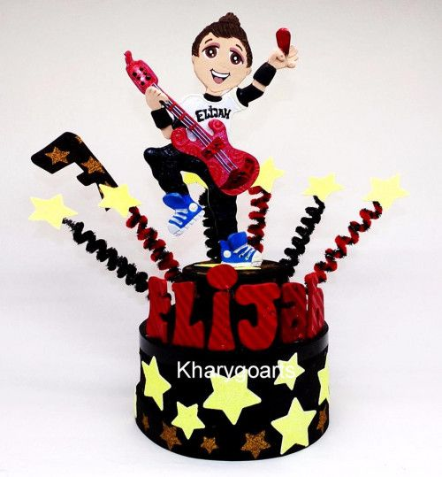 Custom birthday cake topper - Rock birthday - Rock Star party #rockstarparty