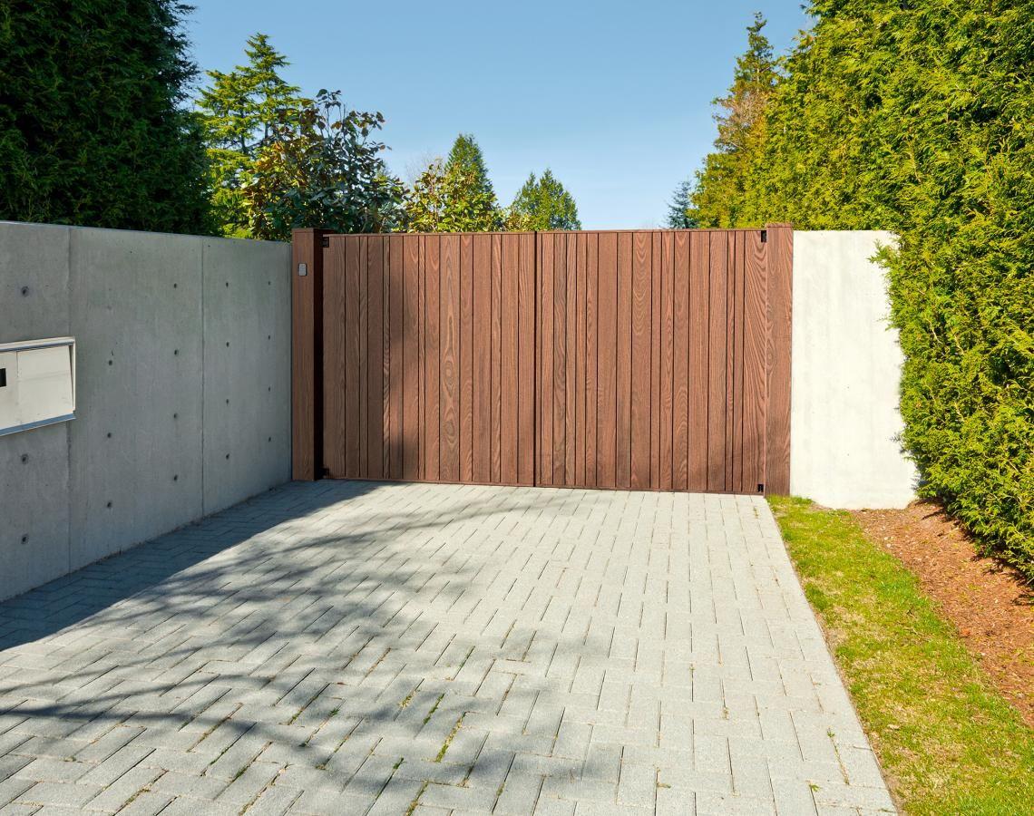 Moderne Einfahrtstore Aus Holz Einfahrt Tor Einfahrtstor Einfahrt