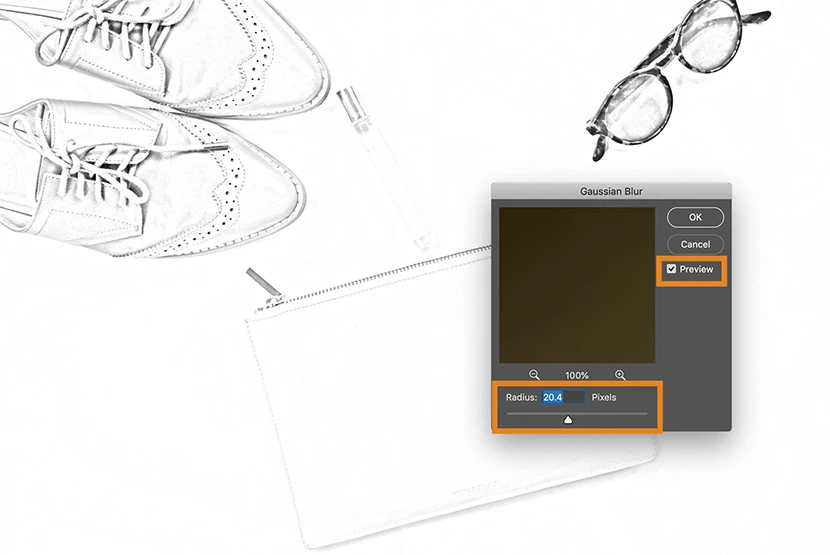 How to Turn a Picture into a Line Drawing in in