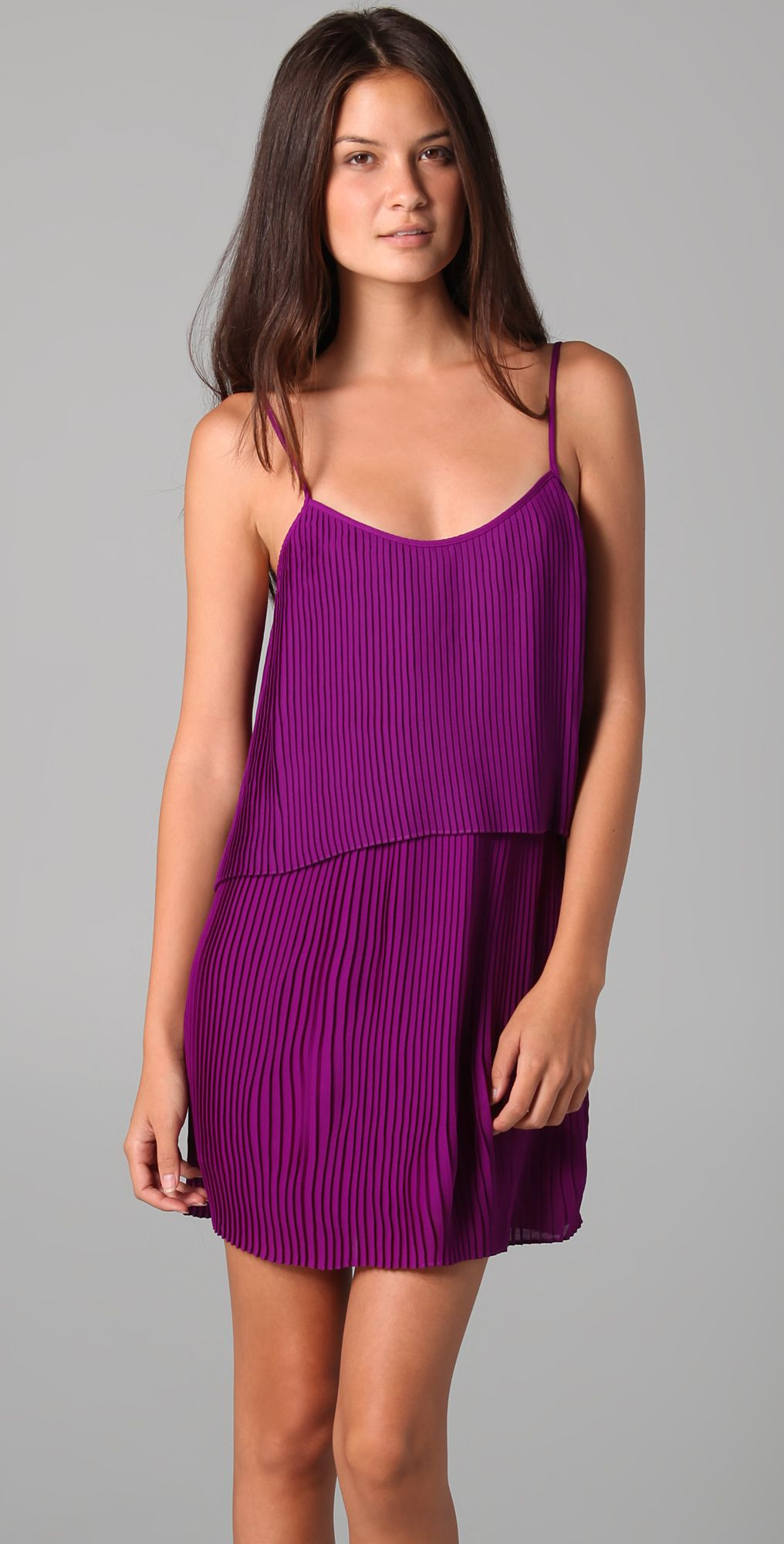 $258 Parker Pleated layer dress size s on lyst.com