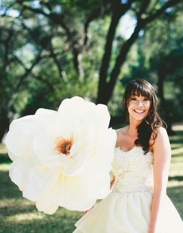 Absolutely LOVE these larger than life flowers for the wedding! So ...