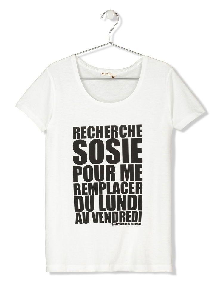 tee shirt femme a message