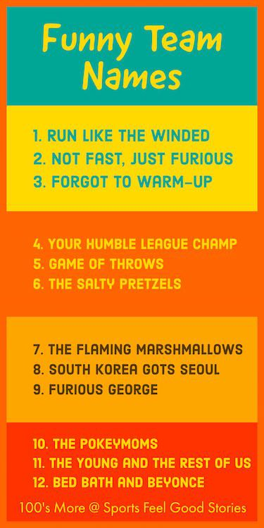 Funny Office Olympics Team Names