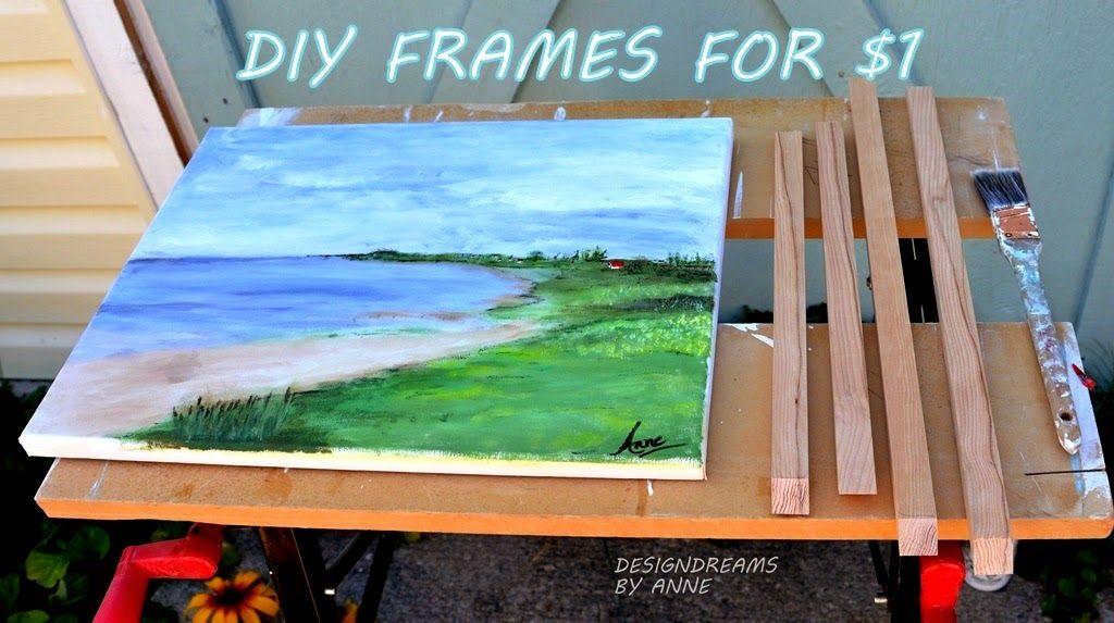 diy canvas frame easy
