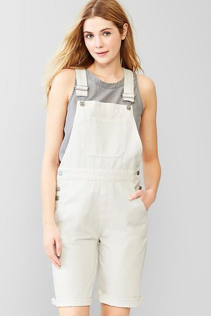 How To Find YOUR Perfect Pair Of Overalls #refinery29  http://www.refinery29.com/cool-overalls-details#slide-20  The Bermuda OverallStill great for warm weather, the Bermuda overall hits above the knee, but isn't overly revealing. In a canvas color and with a worn-in pair of New Balances, you're basically the queen of normcore. Look no further than Gap for the perfect pair....