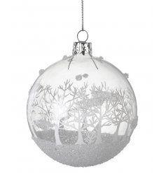 View Glitter Christmas Scene Bauble Details