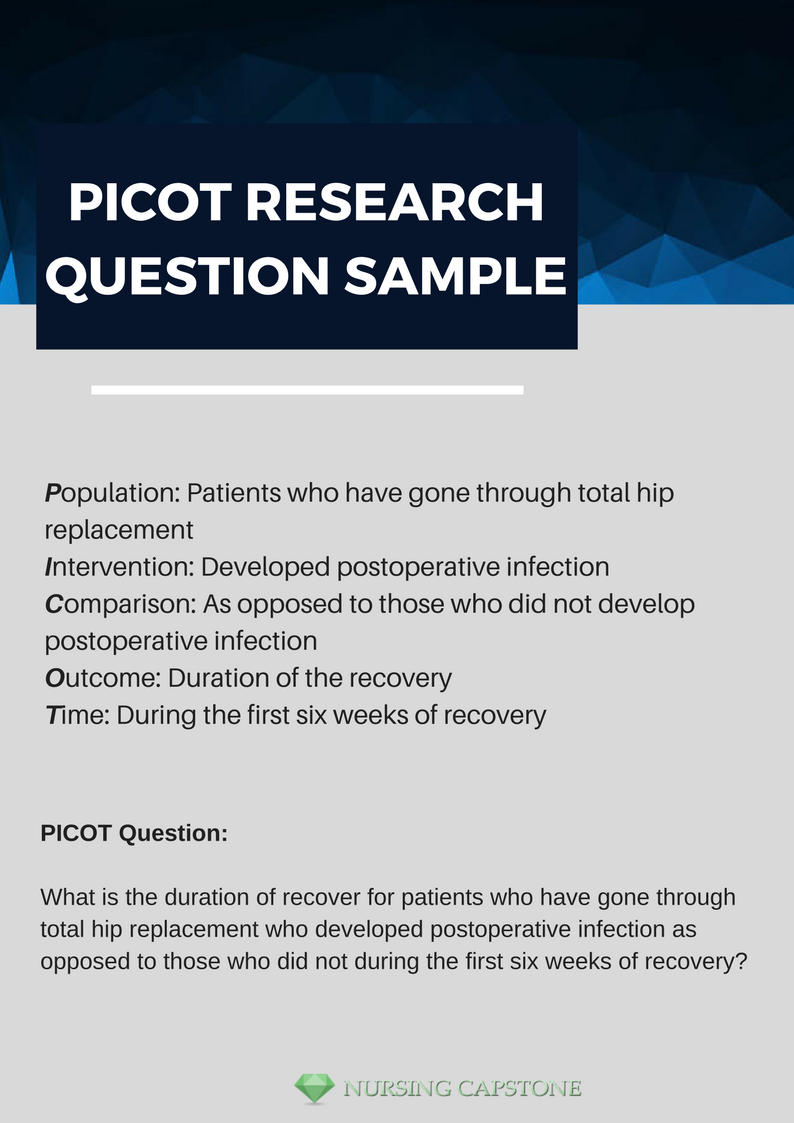 Picot Research Question Sample That Will Show You What You Can Do To Make Your Writing Better Need More S Research Question Nursing Research Nursing Questions