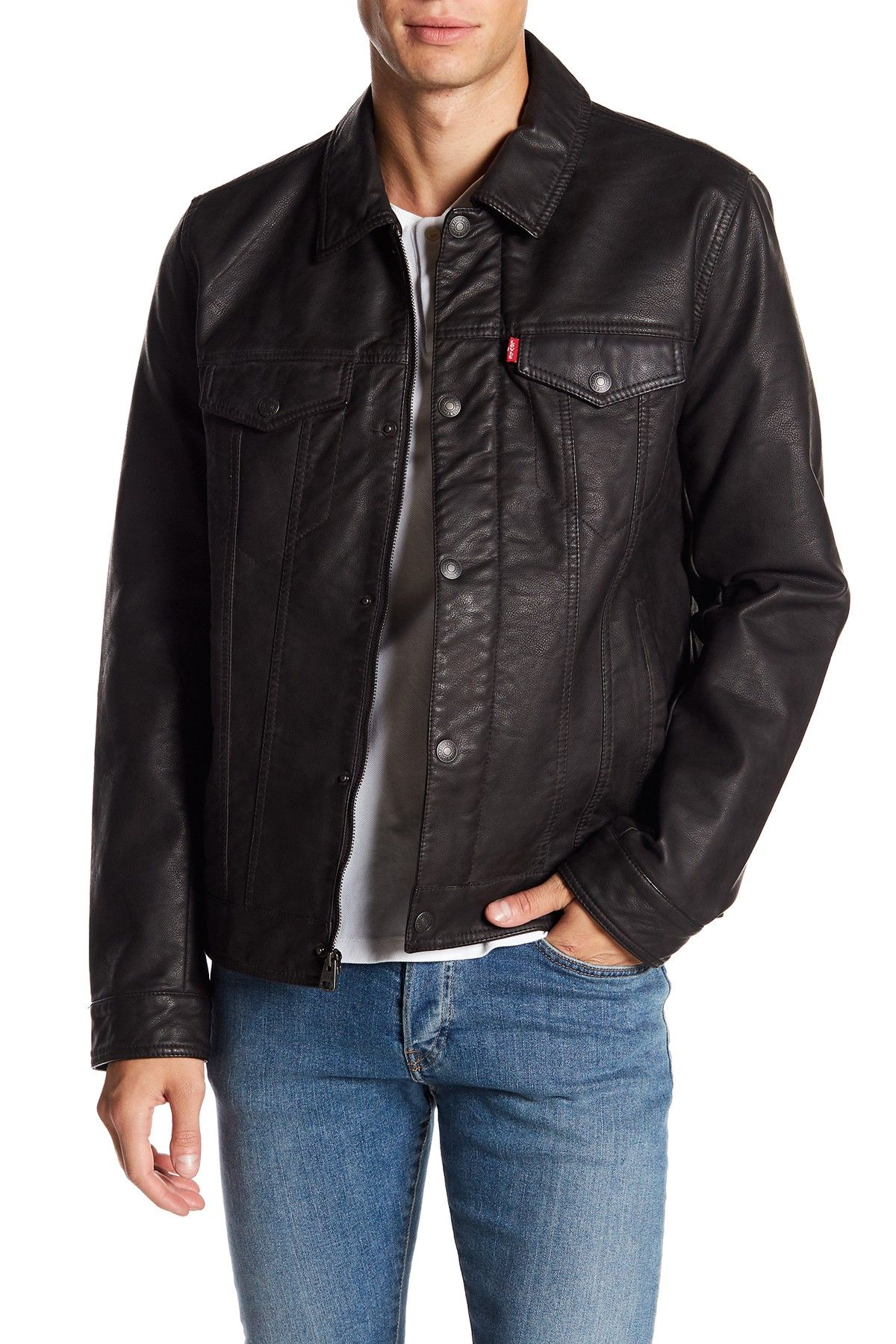 Levi's Classic Faux Leather Trucker Jacket in 2020