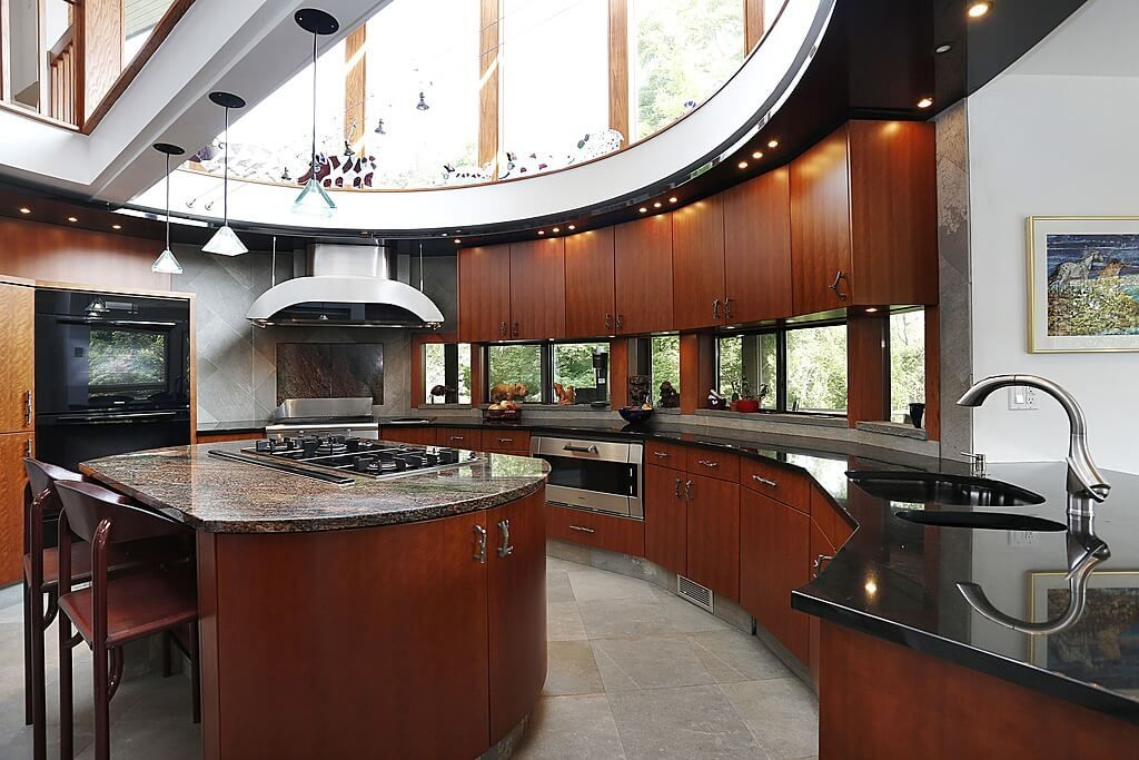 40 Magnificent Kitchen Designs With Dark Cabinets  Marble Extraordinary Kitchen Design Red And Black Inspiration