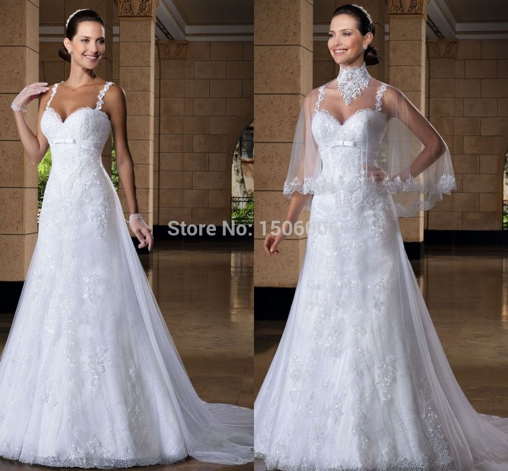 Wedding dress train bustle  Special designer Sweetheart neck spaghetti Straps wedding Dresses