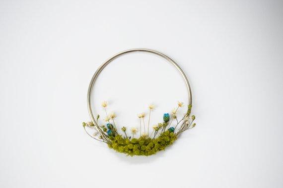Photo of Miniature Modern Wreath Minimalist Spring Home Decor Holiday Gift Wedding Decoration
