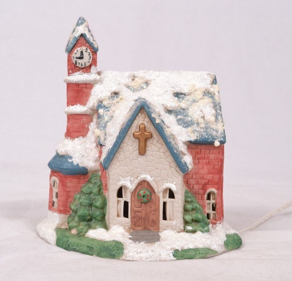 Ceramic Christmas Houses To Paint - Christmas village church white ceramic by fullestofheart on etsy 10 00 etsy fullestofheart fullestofheart etsy store pinterest christmas villages