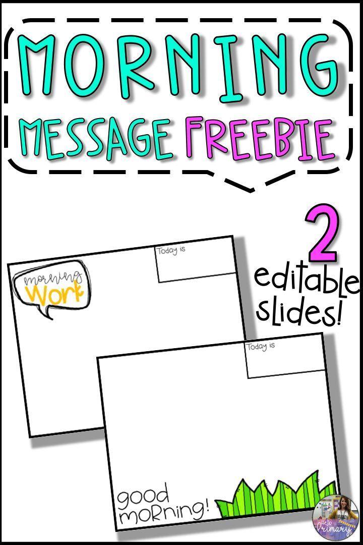 Morning Message Slide Templates FREEBIE Morning messages