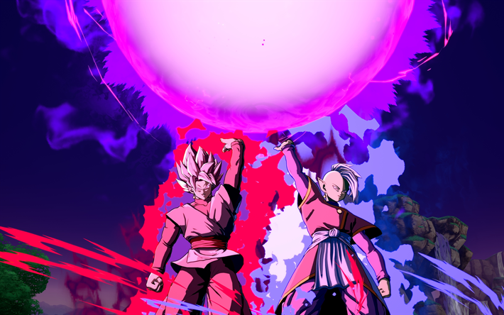 Download Wallpapers Black Goku Android 16 4k Dragon Ball Fighterz Dbzf Dragon Ball Goku Black Dragon Anime
