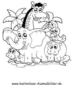 ausmalbilder tiere zum ausdrucken 03 | Schafe | Pinterest