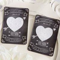Check out these seed favors! Your guests will see the plants grow like your love has.  Chalk It Up to Love Personalized Heart Seed Paper Cards