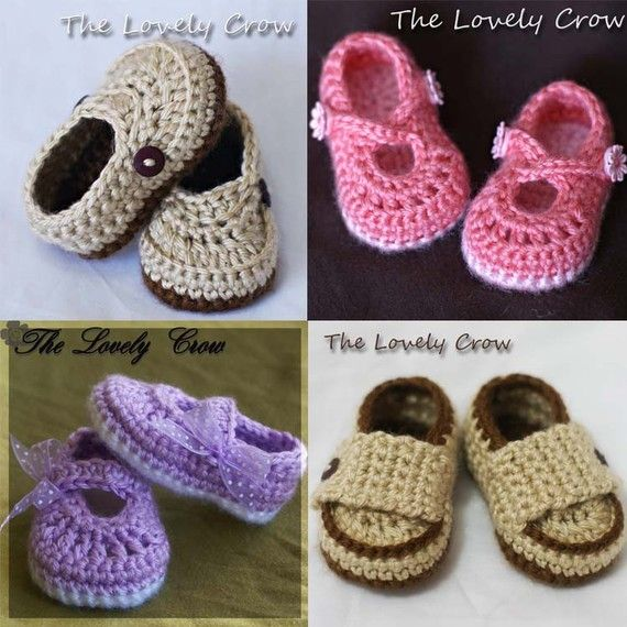 PDF Crochet Pattern Package. All four booties. Ribbon ...