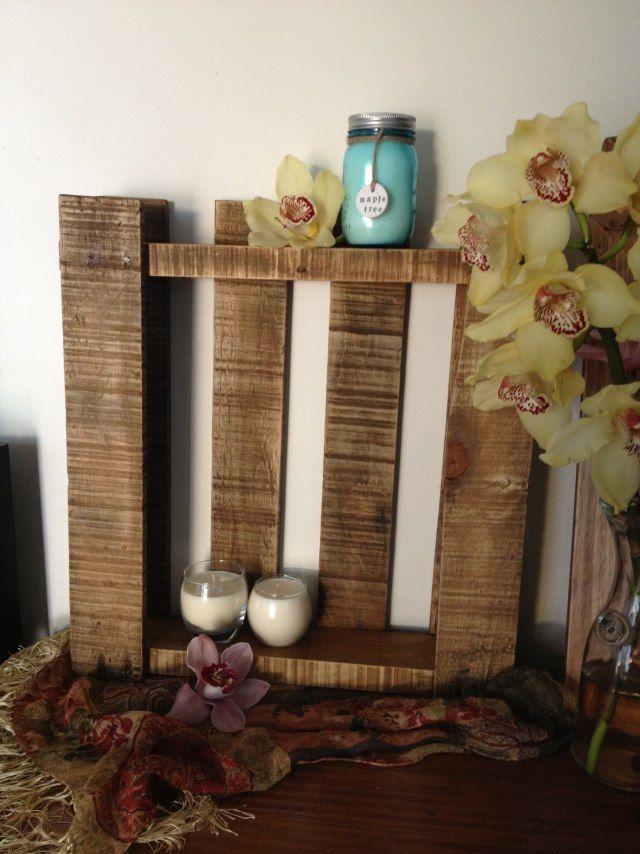 europaletten ideen orchidee kerzen regal deko