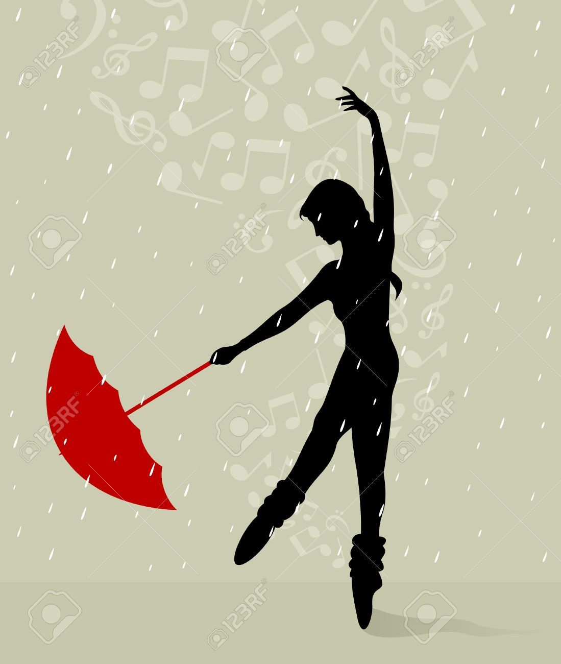Dancing In The Rain Silhouette Would Just Need To Add A