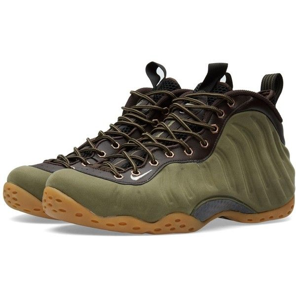Nike Air Foamposite One Premium Olive (280) ❤ liked on Polyvore  featuring mens and mens shoes  My Polyvore Finds  Pinterest  Mens  leather shoes, ...