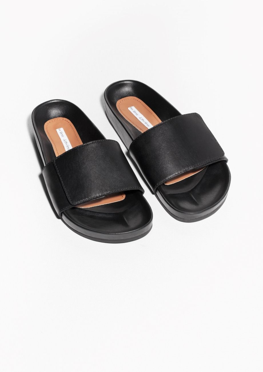 & Other Stories | Leather Slippers. | Leather slippers