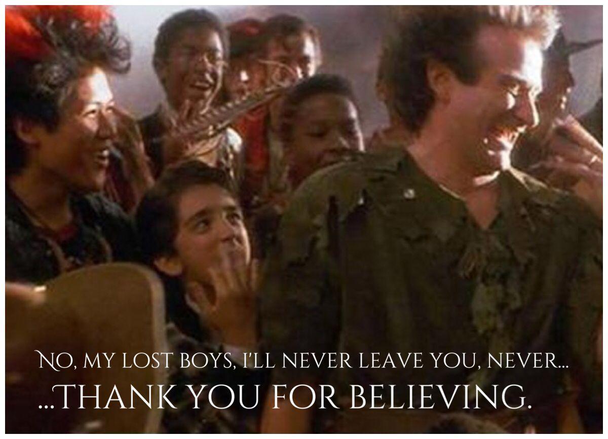 Robin Williams, Hook, Peter Pan, Lost Boys