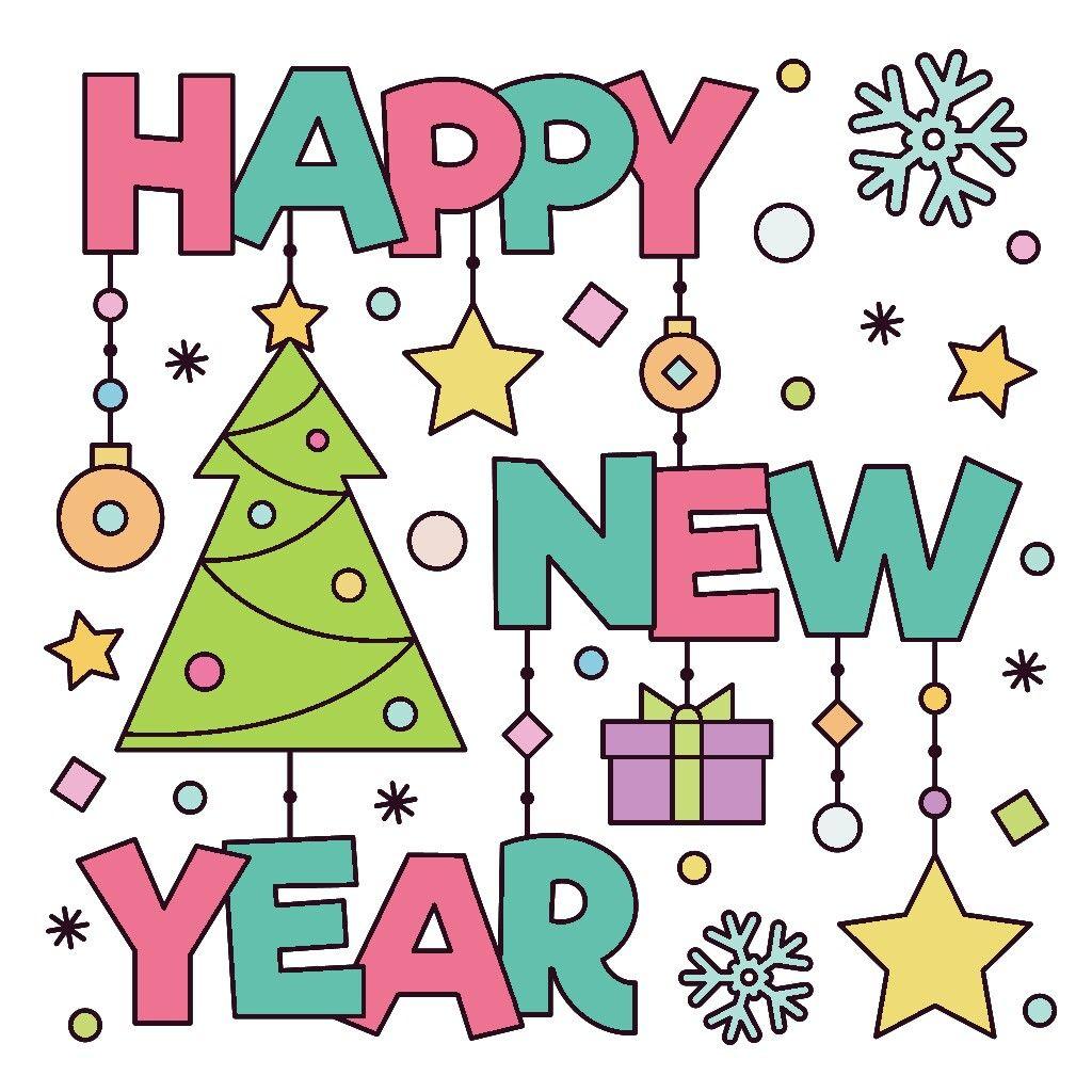 Pin by Joanne Algar on Joanne's Art New year greeting
